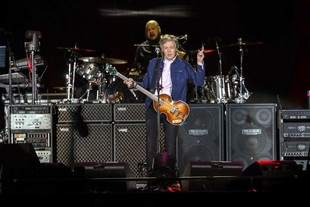 Paul McCartney en concierto en Santiago.