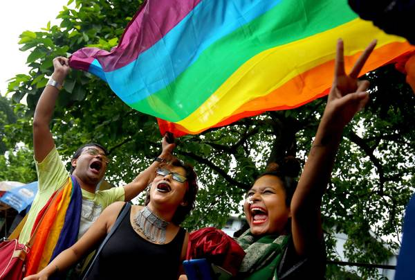 Despenalización, festejos LGBT en India ©