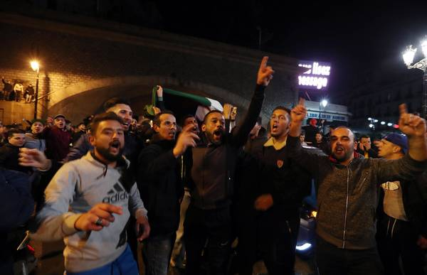 Algerians protest against the fifth term of President Abdelaziz Bouteflika ©