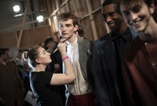 Backstage de la London Fashion Week Men's 2019